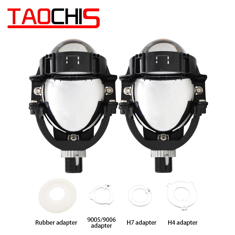 TAOCHIS 3.0 pouces 12V 50W 8000LM Auto phare modification universelle feux de croisement voiture accessoires bi projecteur LED lentille