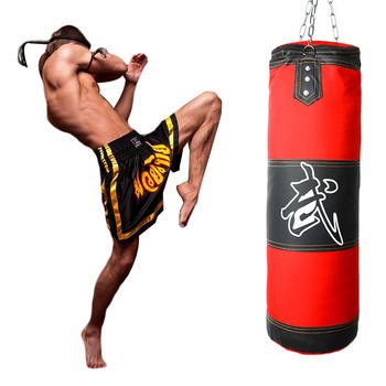 Professional Training Fitness MMA Boxing Punching Bag Hanging Boxing Hollow Sandbag Gym Heavy Musculation Sandbag 60-120cm top quality hollow sand bag boxing sandbag punching bag with hanging chain rotating hook safety buckle