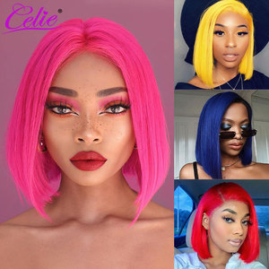 Celie 613 Blonde Lace Front Wig Colored Human Hair Wigs Ombre Pink Blue Red Green Lace Front Human Hair Wig HD Lace Frontal Wig