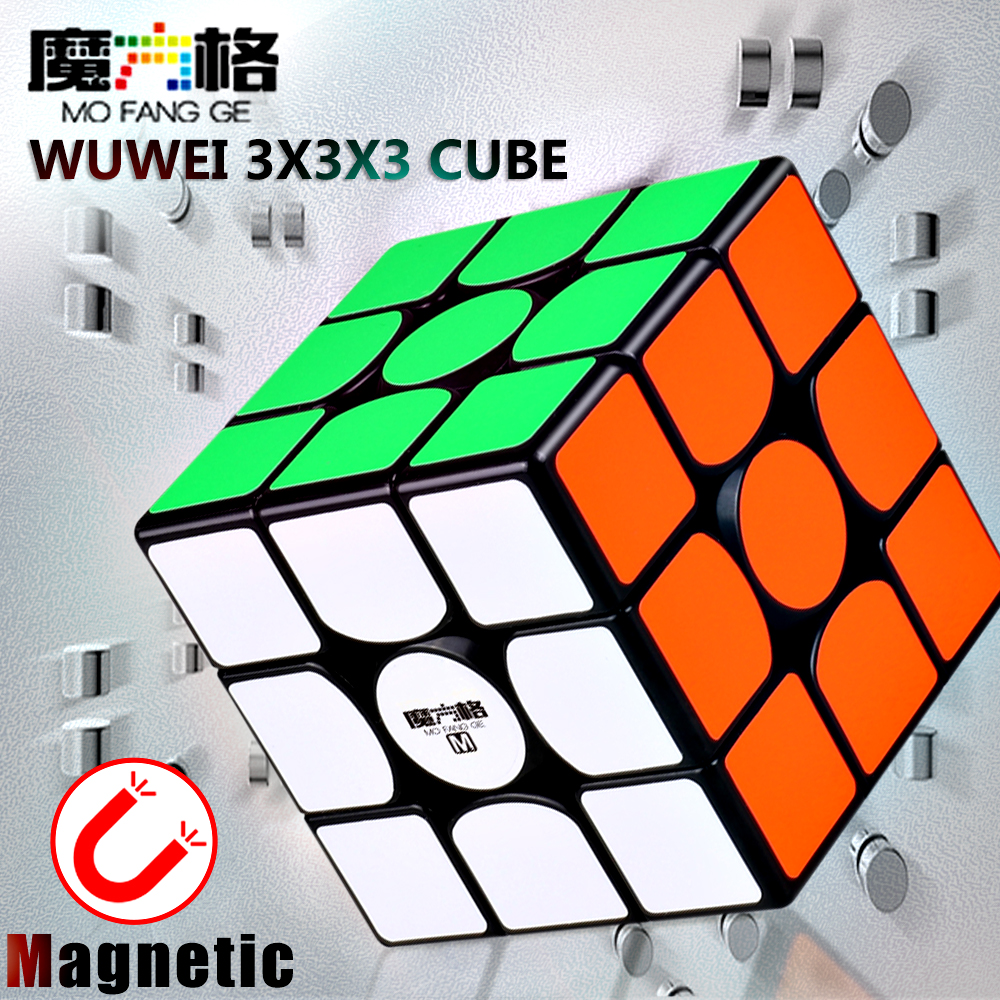QiYi Mofangge Wuwei M 3x3x3 Magnetic Magic Speed Cube Professional Stickerless Magnets Puzzle Cubes Qiyi Wuwei 3x3 Cube