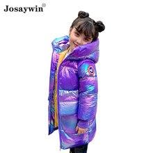 Длинная блестящая зимняя детская куртка josaywin пальто для