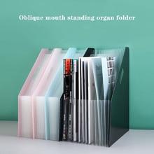 student portable A4 organ bag office file storage standing retractable 13 mezzanine expanding-file-folder Desktop paper sorting