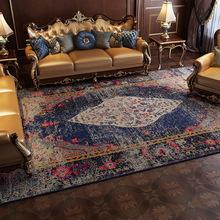 Maroko Vintage etniczny styl perski dywan do salonu na podłogę do sypialni dywaniki mata kwiatowy antypoślizgowy Home Decor amerykański obszar dywaniki tanie tanio Gabinet Persian Style Carpet For Living Room 100 Polyester Short crystal velvet Domu Hotel Sypialnia Modlitwa Dekoracyjne