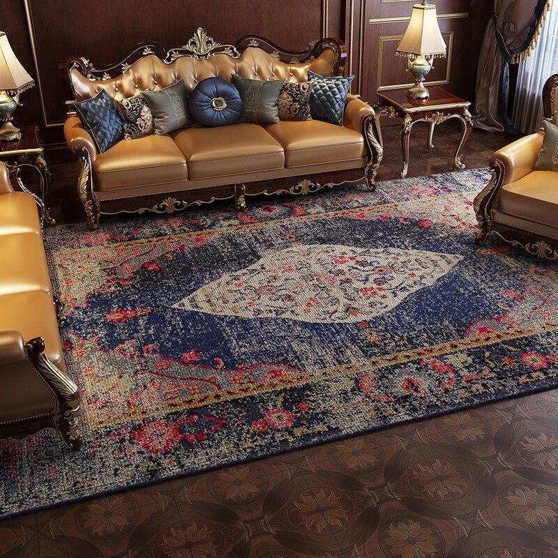 tapis vintage style marocain ethnique persan tapis pour salon chambre a coucher tapis de sol tapis floral antiderapant decoration de maison
