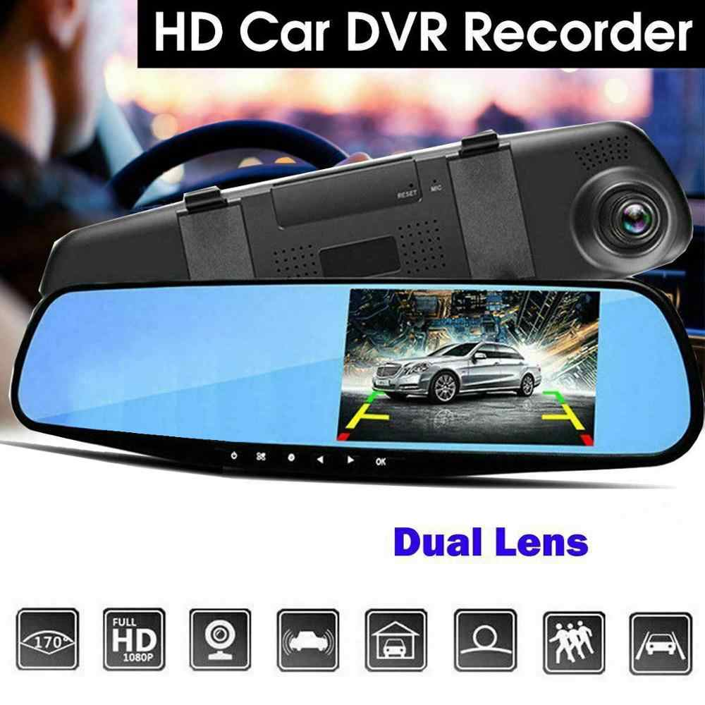 USB 2.0 Video Recorder Auto Camma del Precipitare Del Veicolo Rear View Mirror DVR Lens Auto LCD Car Rear View Specchio DVR con il Caricatore ricambi auto