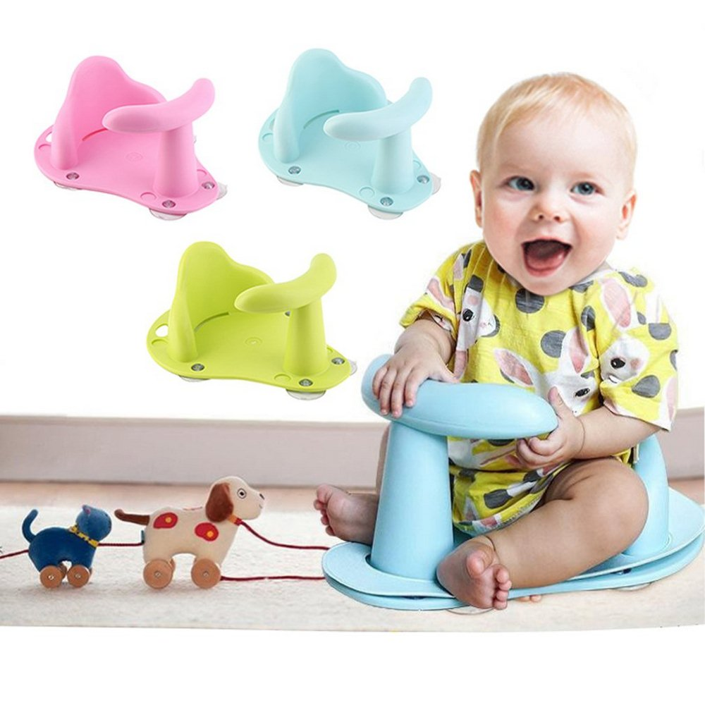 Tub Seat Baby Bathtub Pad Mat Chair Safety Security Anti Slip Baby Care Children Bathing Seat Washing Toys Three Color 37.5cm