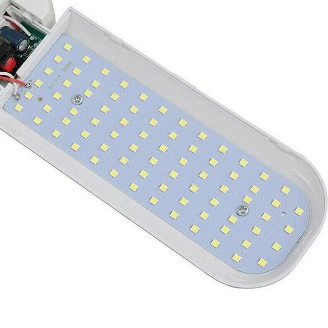 E27 60W 80W 2835 Led Garage Lamp 110V 265V Folding Four Leaf Deformation Lamp Garage Lighting