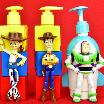 Toy Story Woody Buzz Lightyear Jessie Creative Cartoon Shampoo bottle ABS Action Figure Collectible Model Toy BOX 350ML цена 2017