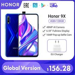 Специальная версия Honor 9X смартфон глобальная версия 4 ГБ 128 ГБ 48 МП Двойная камера 6,59 ''мобильный телефон Android 9 4000 мАч OTA Google Play