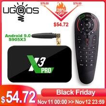 Ugoos X3 Pro 4GB RAM 32GB DDR4 Amlogic S905X3 akıllı TV kutusu Android 9.0 çift WiFi 1000M 4K x3 küp 2G 16G X3 artı 64G Set üstü kutusu