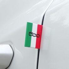 Emblema de decoración de la bandera italiana para puerta del coche, rejilla delantera del maletero para Fiat Punto 500, Panda Abarth Tipo Stilo Bravo Ducato freemot, 1 Uds.