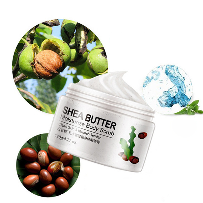 Cucumber Hydrating Body Scrub Exfoliating Dead Skin Removal Deep Cleaning Moisturizing MH88 4