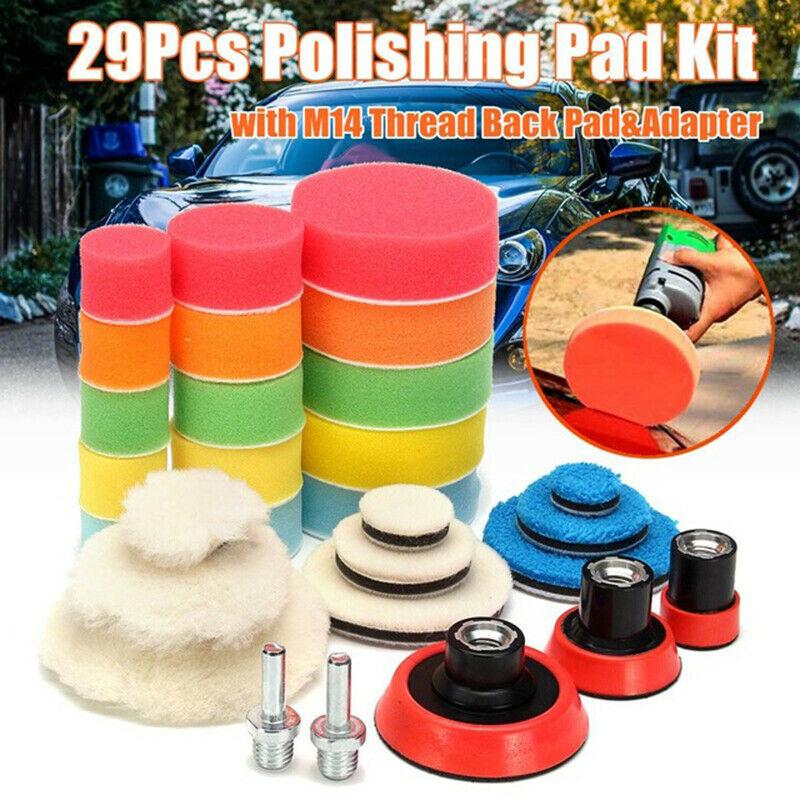 29 pcs esponja almofadas de polimento moagem disco polimento carro ferramenta depilacao acessorios nj88