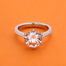 цена на Luxury 4 Carat NSCD Synthetic Simulated Diamond Ring for Women 925 Sterling Silver Engagement Rings Sona Diamond Wedding Ring