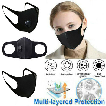 Unisex Cotton Face Mask PM2.5 Mask Activated Carbon Mask With Filter-Washable Reusable Anti-Fog Breathable Reusable Single valve