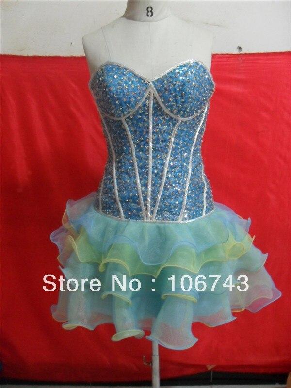 short dresses free shipping 2016 best seller new style best  seiier bride wedding Custom size embroldery beading party dress
