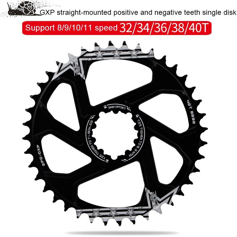 Manivela da bicicleta gxp engrenagem fixa manivela 32t 34t 36t 38t 40t estreita roda de corrente larga para sram gx x01 x1 x9 offset 1mm