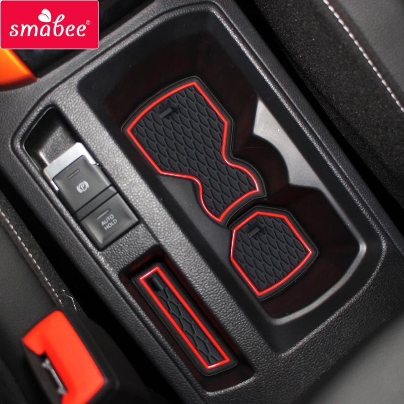 Smabee Anti-Slip Gate Slot Cup Mat For VW T-ROC 2017 2018 2019 TROC T ROC Interior Accessories Non-Slip Pad Rubber Car Sticker