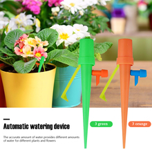 12x Bottle Auto Drip Watering Spikes Automatic Irrigation System for Indoor Flower Plants Garden Household