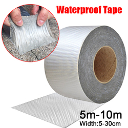 Hoge Temperatuur Weerstand Waterdichte Tape Aluminiumfolie Dikker Butyl Tape Muur Crack Dak Duct Reparatie Plakband 5-10M
