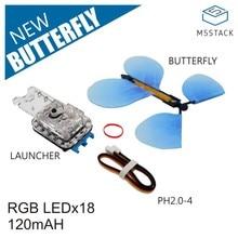M5Stack RGB led와 그 로브 케이블 어댑터가있는 공식 새 나비 발사기 어린이 마술 소품 장난감