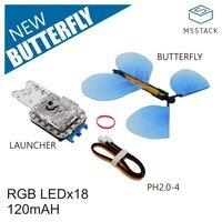 M5stack oficial novo lançador de borboleta com led rgb e grove cabo adaptador infantil brinquedo prop mágico
