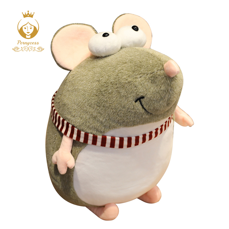 1PCS Lovely Big Eyes Mouse Plush Toy Soft Stuffed Animal Kids Toys Funny Toys Home Decoration Christmas Gifts