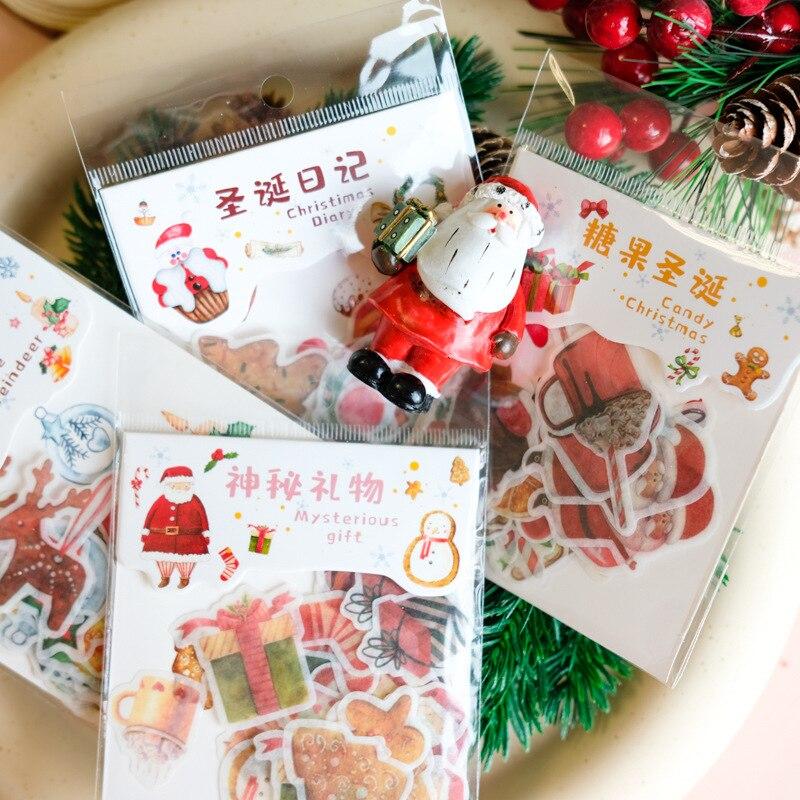 40 шт./упак. Рождество запечатывания Стикеры самоклеящаяся Рождественская декоративная подарочная упаковка упаковочная конверт уплотнения...