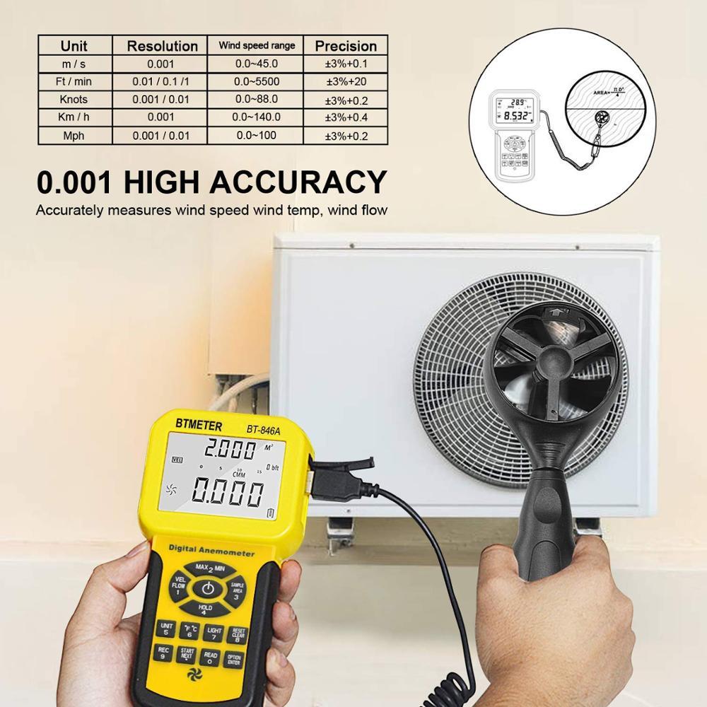 Анемометр BTMETER 846A Pro HVAC 2