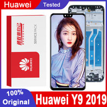 מקורי 6.5 10 מגע LCD תצוגה עם מסגרת עבור Huawei Y9 2019 LCD מסך מגע Digitizer עצרת JKM LX1 JKM LX2 JKM LX3