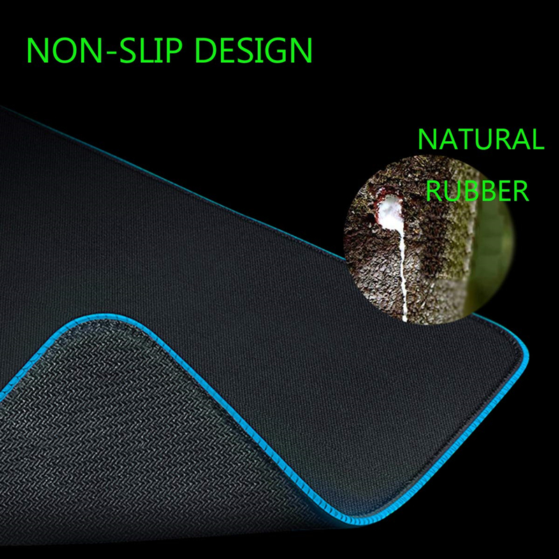 Image 4 - RGB Soft Large Gaming Mouse Pad Oversize Glowing Led Extended  Mousepad Non Slip Rubber Base Computer Keyboard Pad Mat-in Mouse Pads  from Computer
