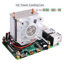Heatsink Pi Cooling-Fan/cooler Ice-Tower 4-Model CPU with for Raspberry 3B /3b 40mm LED