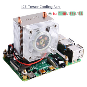 Raspberry Pi ICE-Tower CPU Cooling Fan / Cooler with Heatsink for Raspberry Pi 4 Model B / Raspberry Pi 3B+ / 3B 40mm LED