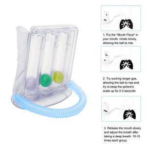 Breathing Trainer Respiratory Incentive Three-ball Meter Spirometry Trainer Lung Function Exerciser Hot