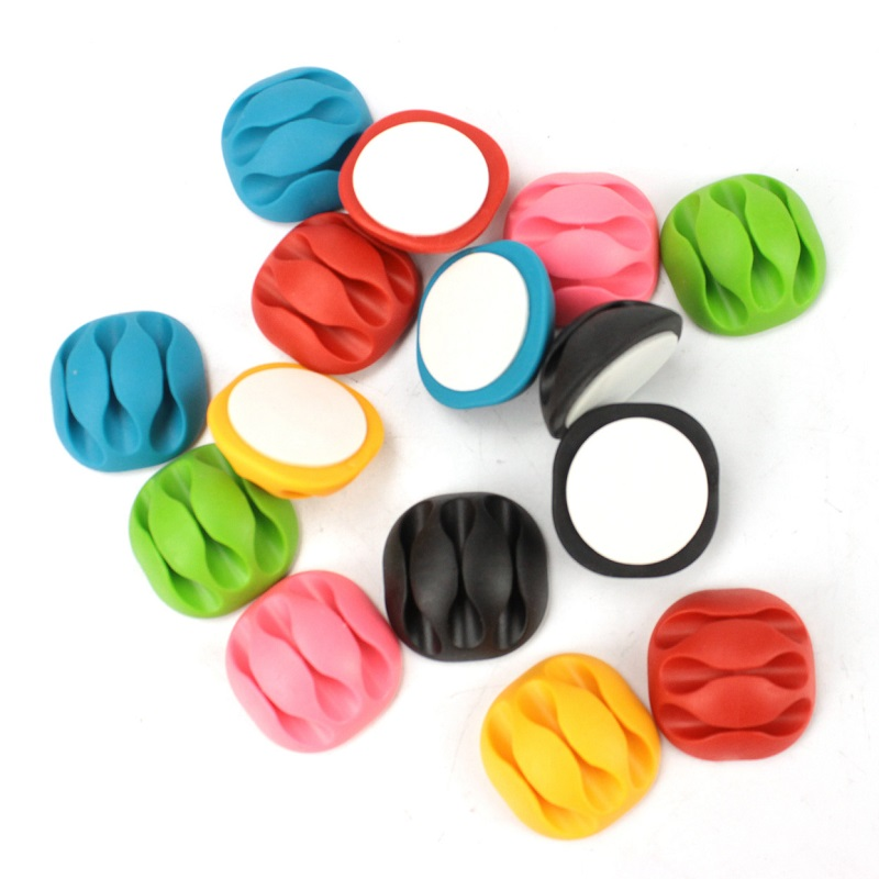 Silicone Cable Organizer USB Cable Holder Flexible Cable Winder Management Cable Clips Holder For Mouse Keyboard Earphone Car