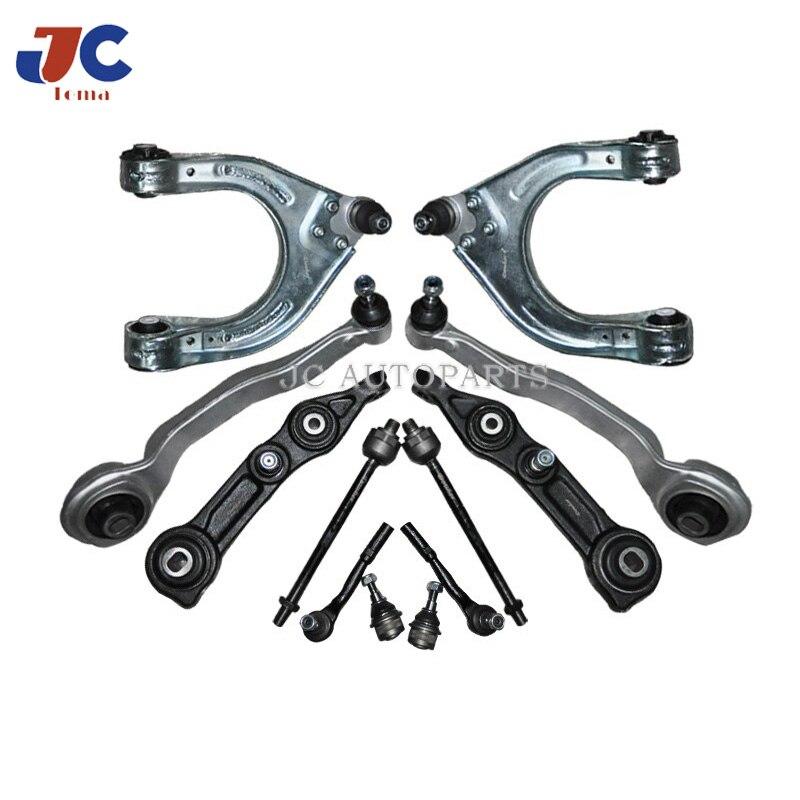 Pièces de suspension automatique kit de bras de commande inférieur embout de biellette pour Bens W211 W219 E320 E350 E500 12 Pc Kit