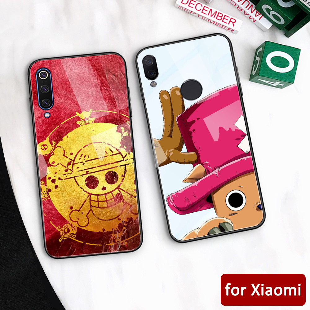 For <font><b>xiaomi</b></font> redmi note 8 pro glass back one piece <font><b>anime</b></font> <font><b>case</b></font> for <font><b>Xiaomi</b></font> <font><b>mi</b></font> 6 6x Redmi Note 5 6 7 8 pro Max 3 <font><b>Mi</b></font> play k20 pro k30 image
