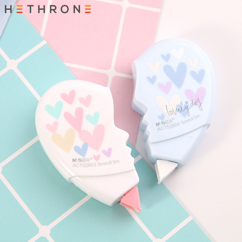 Hethrone New Arrival Cartoon Love Can Be Stitched Press Correction Tape Creative Animals Tapes School Writing Corrector Tools