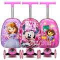 Enfants scooter valise stockage boîtier de chariot bagages planche à roulettes pour enfants bagage à main enfants tour boîtier de chariot jouet sur roues