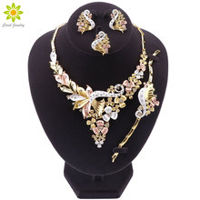 Dubai Jewelry Sets For Women African Beads Jewelry Set Party Necklace Earrings Sets Fashion Bridal Wedding Jewellery Sets