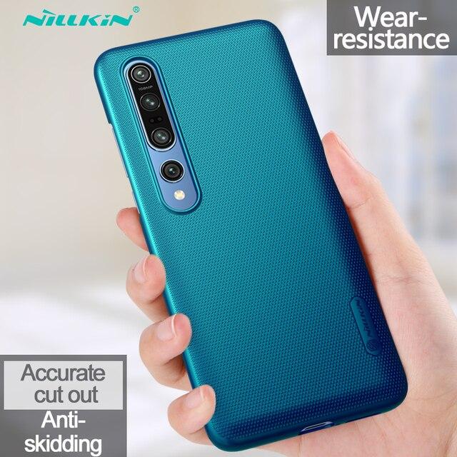 Xiaomi Mi için 10 Pro Mi 9 Lite Mi 9T A3 not 10 durumda Nillkin buzlu kalkanı sert PC telefon kılıfı için Xiaomi Mi10 Mi9 SE Mi9T Mix 3