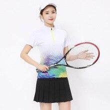 Jingdong летняя универсальная анти-экспозиционная юбка теннисная юбка женская юбка Волан футболка короткая юбка спортивный комплект квадратный танец