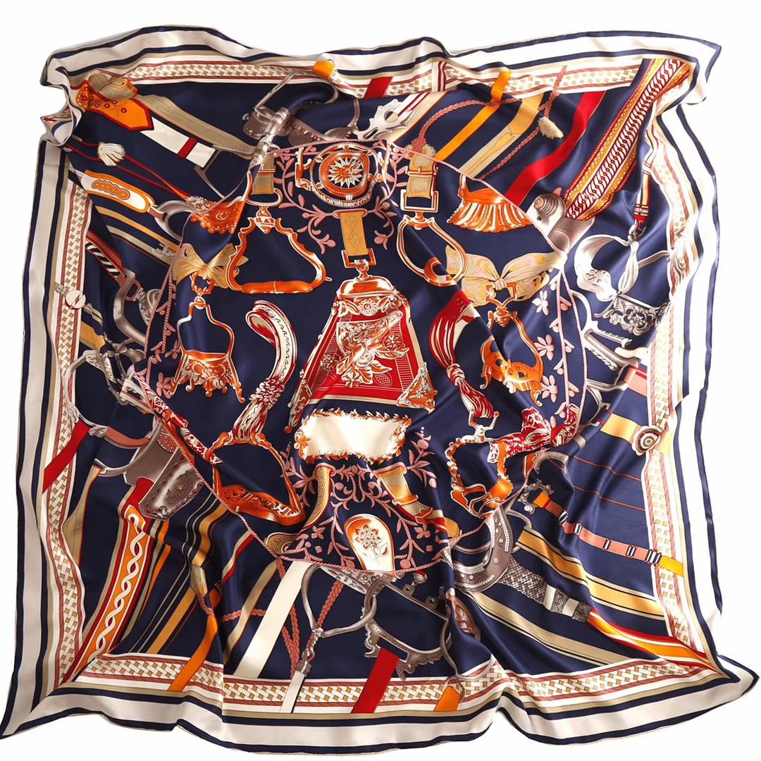 silk scarf 140*140 woman scarf silk brand luxury spring beach shawl Muslim wraps belt fashion foulard accessory top headband new