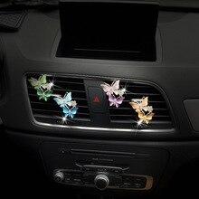Metal borboleta automóvel perfume decoração clipautomotivo produtos para as mulheres cor borboleta carro ambientador de ar decoração