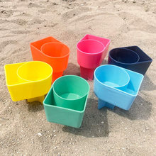 Newly 2Pcs Beach Sand Cup Seat Holder Multifunctional Plastic Coaster Drink Cups Stand(China)