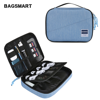 BAGSMART Travel Electronic Accessories Organizer Portable Bags For USB Cable Fashion Waterproof Storage Bags for Ipad Earphone bagsmart 17 travel bags for clothes