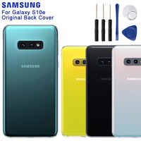 Original Samsung Glas Gehäuse Zurück Abdeckung Fällen Für SAMSUNG Galaxy S10e SM-G9700 Telefon Hintere Batterie Tür Werkzeuge