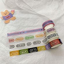 Stationery Sticker Decorative-Tape Korean Card-Note Hand-Account Words Colorful Simple-Style
