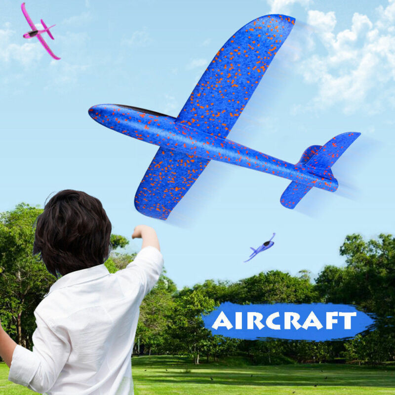 Outdoor Kids Toys Kids Gifts Foam Hand Throw Airplane Aircraft Launch Glider Plane Model Convolution image