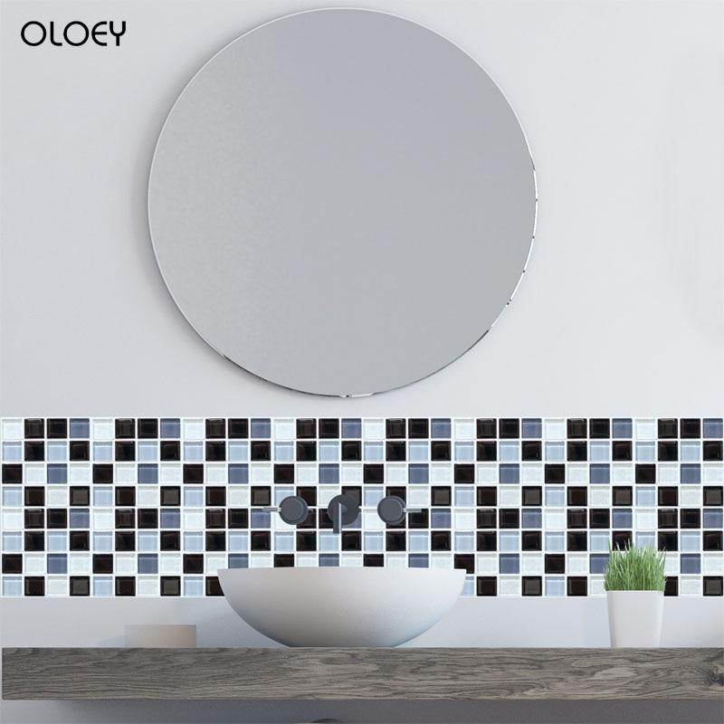 6 шт., мозаичные наклейки на стену, 3D самоклеющиеся наклейки, европейские геометрические наклейки на плитку, красивые наклейки для гостиной